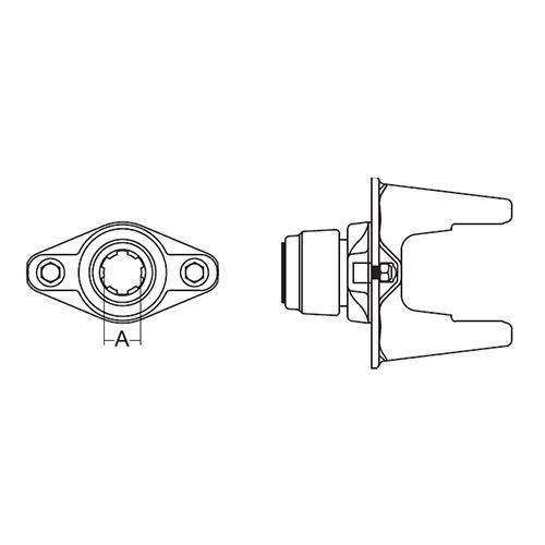 CLTCH SHRBLT AW35 2400 1-3/4X2