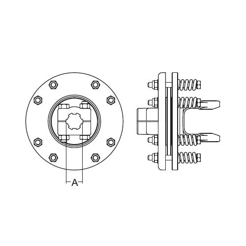 FRICTION CLUTCH 1-3/8-6SPL SER