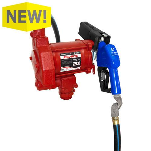 115V AC 20GPM Heavy-Duty Arctic Fuel Transfer Pump with Auto Nozzle