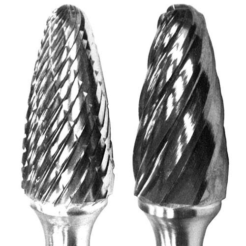 CARBIDE BURR 3/8X3/4 ROUND TRE