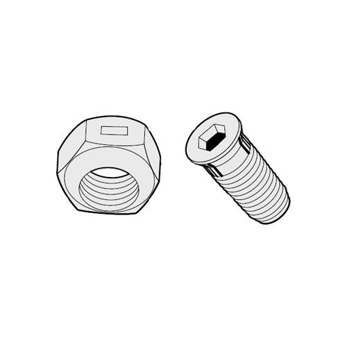 PACK OF 50 BOLTS/NUTS