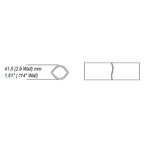 AW11,AW20,AW21 series lemon profile tube, clearance for uncoated tube
