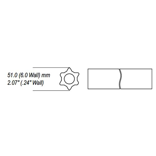 AW35,AW36 series star profile tube, solid or round bore tube
