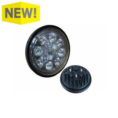 24W LED Sealed Round Work Light w/Red Tail Light, TL3005