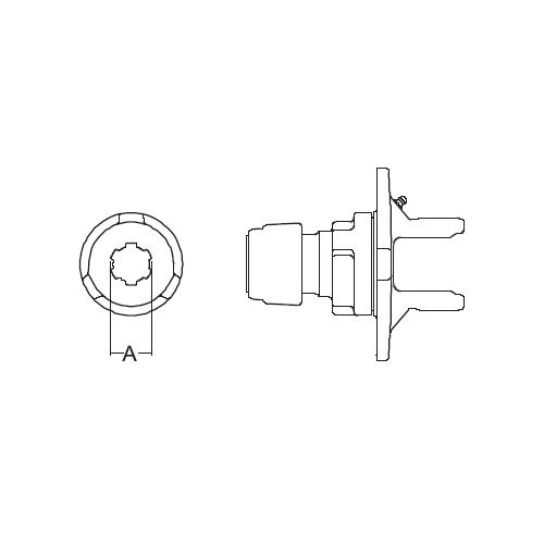CLUTCH YOKE 1-3/4-20 SPL 44