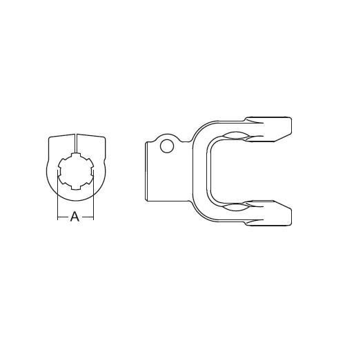 YOKE CLAMP 1-3/8