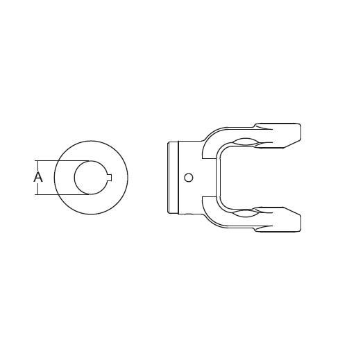 YOKE W/KEWAY AE622335