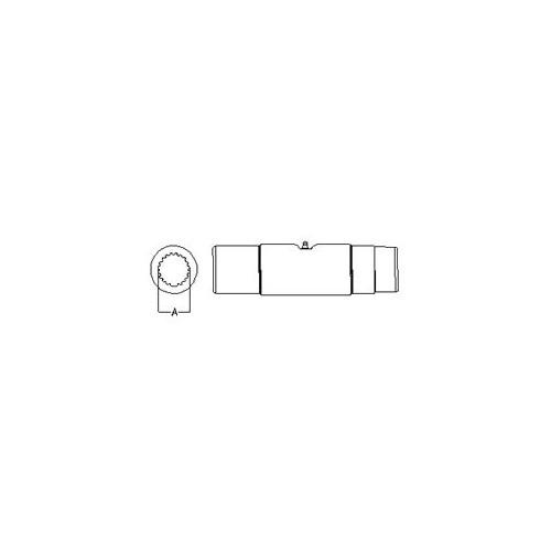 35 series spline slip sleeve, 1 5/16-20 spline