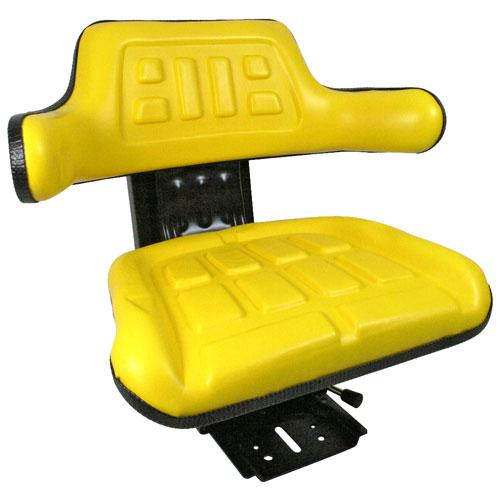 Universal Tractor Seat with Adjustable Suspension – Yellow