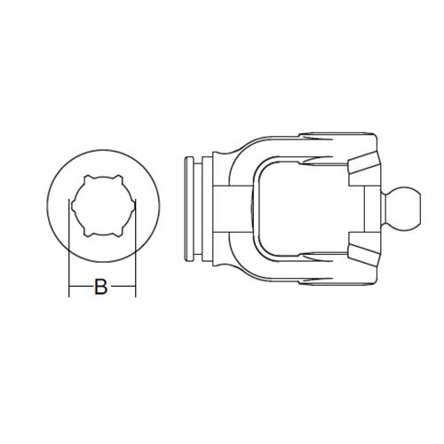 INNER PROFILE YOKE STAR CV