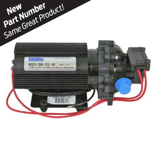 SHURFLO® 2088-313-145 12VDC Diaphragm Pump w/ Fin Cooled Motor