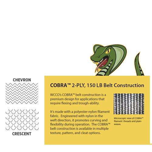 "COBRA™ 2-PLY 0.252"" OAG, ULTIMATE 1 CONVEYOR BELTING"