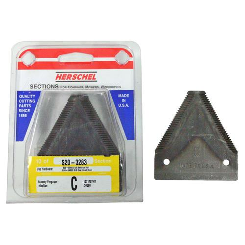 SECTION 14 TOOTH - JD, MACDON 10/PK (S20-3283)