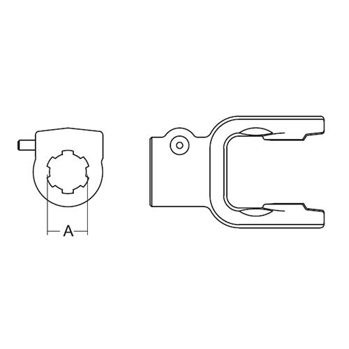 TRACTOR YOKE PIN LCK 1-3/8
