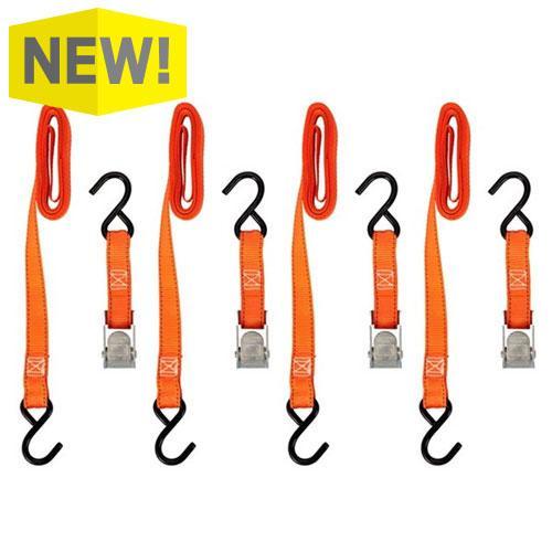 Keeper 10' Cam Buckle Tie-Down, 4 Pack