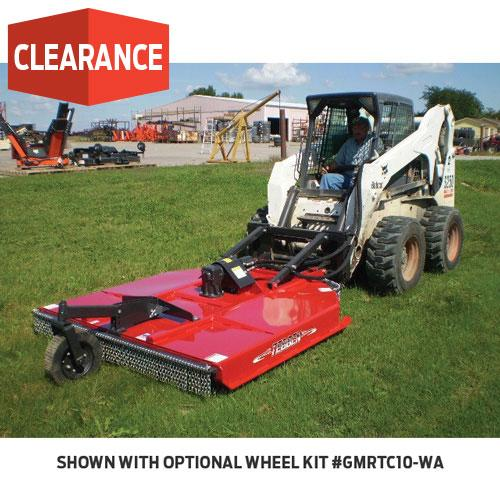 6' RED SKID STEER ROTARY CUTTE
