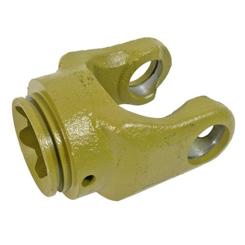 AW36 series yoke with 61 mm star bore and roll pin connection