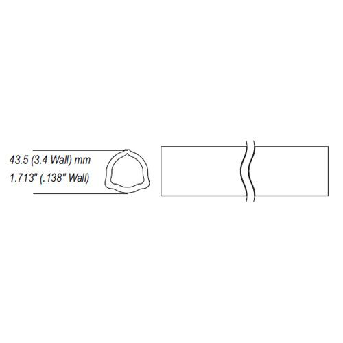 AB3,AB4 series trilobe profile tube, clearance for uncoated tube