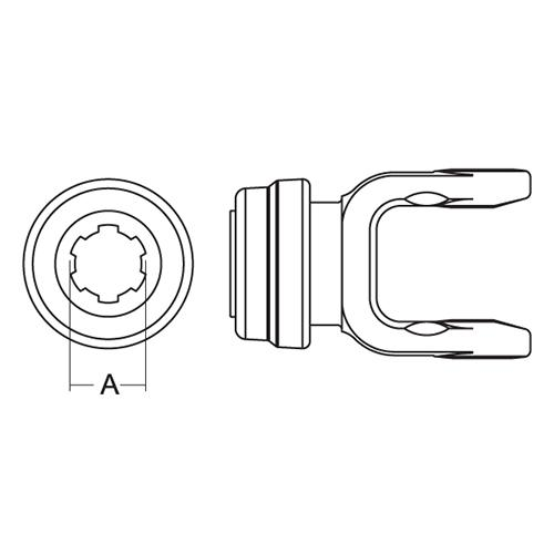 TRACTOR YOKE SLIDE LK 1-3/8-6